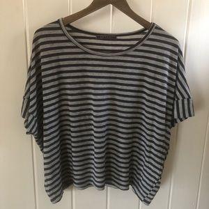 Velvet striped short sleeve tee
